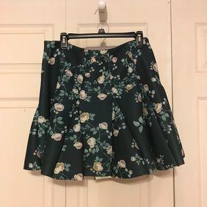 LC Lauren Conrad Floral Skirt